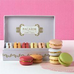 Macaron Limoge Box Set of 12 (1.461.460 IDR) ❤ liked on Polyvore featuring home, home decor, small item storage, food, macaroon box, limoges box, rose trinket box, macaron box and ornate box