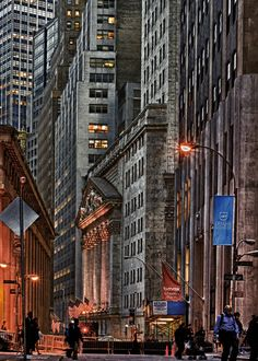 Wall Street, New York City.