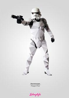 Stormtrooper -Polygon Pixel