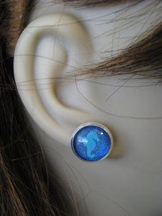 Blue Sparrow Nail Polish Seahorse Earrings by bluesparrowtrinkets