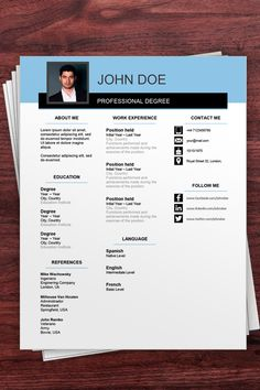 Download this Free Resume Templates Word to stand out in your job search