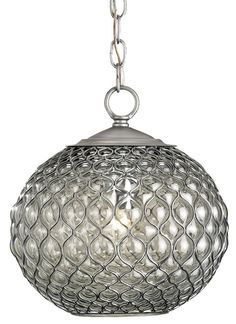 View the Currey and Company 9109 Pinto 1 Light Steel Wire Pendant with Beige Shantung / Brass Trim Shade at Build.com.