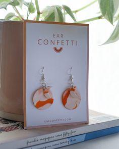 Orange Eclipse — Ear Confetti Confetti, Place Card Holders, Ear, Rainbow, Colours, Shapes, Orange, How To Make, Rain Bow