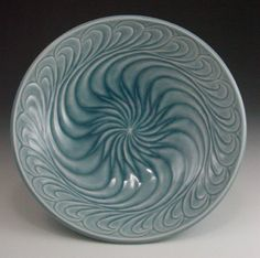 aquabowl anne ginkel carved pottery ceramics clay