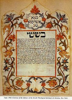 Ancient Ketubah Jewish Wedding Agreement From Lugo Near Ravenna Italy
