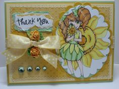 Penny with Flower Digital Stamp by Christina for Spesch Designer Stamps. Michelle's MBellishments: Spesch stamps
