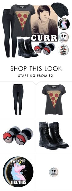 """""""""""messy hair don't care"""" damon fizzy outfit? idk"""" by chickadeeanya ❤ liked on Polyvore featuring Mother and Wildfox"""