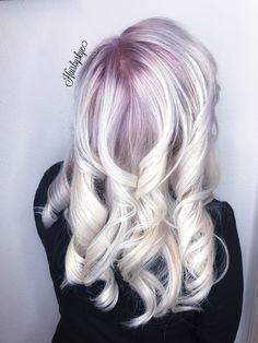 Hair #blonde #icey #ombre #purple #2017hair #hair #oplex