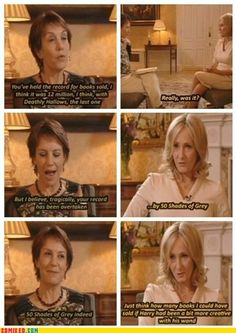Oh my god, I love her. JK Rowling on 50 Shades of Grey