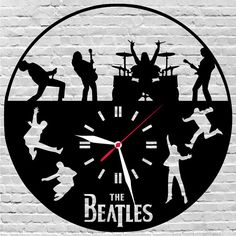 Wooden Color Clocks,Boxes,Holders and Notebooks Custom por Beatles Gifts, Beatles Art, The Beatles, Gift For Music Lover, Music Lovers, Rock Bedroom, Music Clock, Record Art, Rock Bands