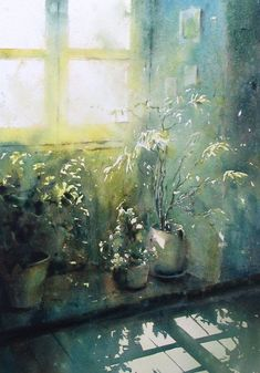 David Chauvin -wonderful use of light. Watercolor Artists, Watercolor Landscape, Watercolor And Ink, Watercolor Flowers, Watercolor Paintings, Watercolors, Japan Watercolor, Art Inspo, Painting Inspiration