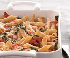 Easy Baked Tomato Pasta with Spinach