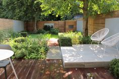 Stacked pavers as plateau for the patio, with the piled edges visible. Like this!