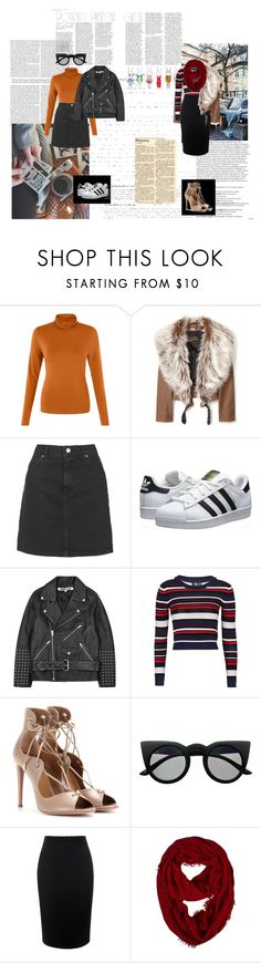 """#550"" by holyanna ❤ liked on Polyvore featuring Balmain, Vivienne Westwood Anglomania, Topshop, adidas Originals, McQ by Alexander McQueen, Aquazzura, Retrò, Alexander McQueen, women's clothing and women's fashion"