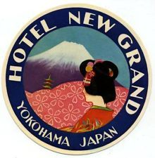 Hotel  New Gtand Yokohama Japan luggage label
