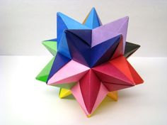 Origami modular Star Ball varios colores 4.5 por OrigamiDelights