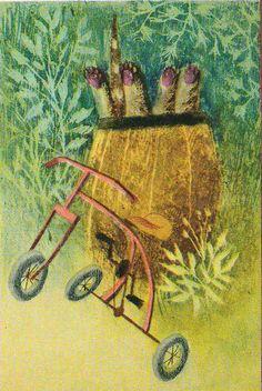Jiří Trnka, Zahrada / The Garden Prague Tattoos For Kids, Children's Literature, Animation Film, Book Illustration, Color Splash, Childrens Books, Illustrators, Book Art, Watercolor