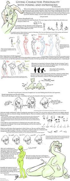 Posing and Expression Tutorial by KiilKannibble.deviantart.com on @DeviantArt