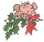 SWB1017 18M 2x2 Christmas Canvas, Christmas Crafts, Christmas Ornaments, Cute Pigs, Snowman Ornaments, Needlepoint, Cross Stitch Patterns, Needlework, Embroidery