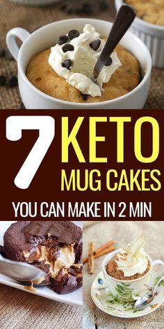 Low Carb Sweets, Low Carb Desserts, Low Carb Recipes, Cooking Recipes, Mug Recipes, Cake Recipes, Keto Desert Recipes, Easy Keto Meal Plan, Keto Mug Cake