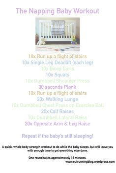The Napping Baby Strength Workout - fitting in strength training with a new baby.