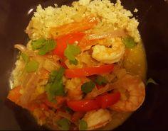 Jerk Shrimp and Vegetables Jerk Shrimp, Shrimp And Vegetables, Pork, Beef, Stuffed Peppers, Dishes, Chicken, Recipes, Kale Stir Fry