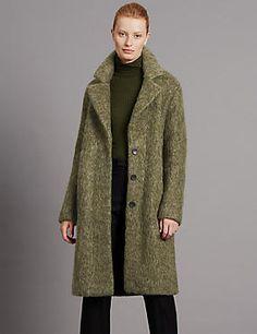 Brushed Unstructed Coat