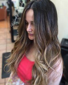 Brunette Balayage Ombre color melt. Balayage in Denver. #balayage #ombre #balayageombre #balayagedenver #balayagedandpainted #denverbalayage #hair #brunette #brunettebalayage #balayagehighlights #balayagehair #denver #balayagespecialist...