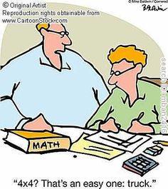 Hamilton& Math Morsels: Some funny math cartoons Math Puns, Math Memes, Science Jokes, Math Humor, Math Cartoons, Math Comics, Funny Cartoons, School Cartoon, School Jokes