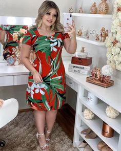 Plus Size Chic, Looks Plus Size, Curvy Women Fashion, Womens Fashion, Modest Outfits, Casual Looks, Beautiful Outfits, Fashion Dresses, Cold Shoulder Dress