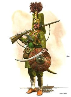 Oficer janczarów z 2 poł. XVI wieku. Rys. Christos Giannopoulos
