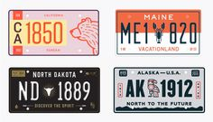 The U.S. License Plates redesigned.