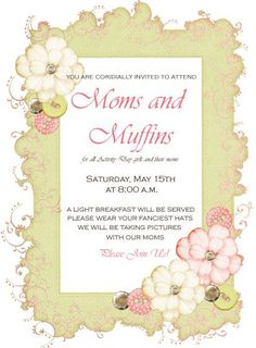 very cute idea for mommy and me activity and the decorations are adorable