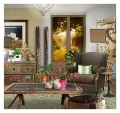"""""""Take Me Home"""" by angiem ❤ liked on Polyvore featuring interior, interiors, interior design, home, home decor, interior decorating, Ethan Allen, Jamie Young, Giclee Glow and West Elm"""