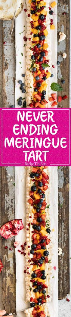 The Never Ending Meringue Tart - Easy, make ahead, show stopper dessert for a crowd! www.recipetineats.com