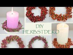 DIY - Herbst Deko Ideen selber machen I Türkränze aus Moos, Hagebutten, Beeren, Blüten I Herbstdeko - YouTube