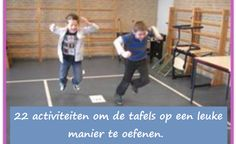 Belangrijk (vooral bij jongens) dat het automatiseren geoefend word in combinatie met een fysieke activiteit.