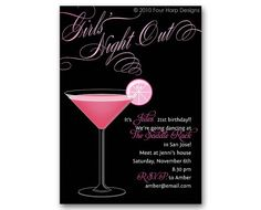 Girls Night Out invite #birthday #bachelorette #invitation