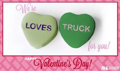 We're loves..truck over our fans this #ValentinesDay. Share this with your fans too! #truckpuns #relationshipping