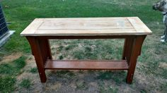 I sanded the top with a electric sander. I think that it was 220 grit.