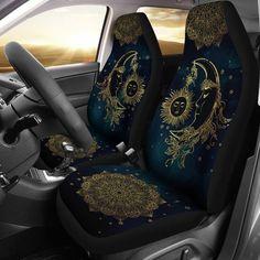 Volkswagen Bus Discover Sun Moon Mandala Car Seat Covers Pair 2 Front Seat Covers Car Seat Protector Seat Cover for Car Car Seat Protector Car Accessory Sun And Moon Mandala, Sun Moon, Car Seat Cover Sets, Car Covers, Truck Covers, Hippie Car, Hippie Gypsy, Volkswagen Beetle, Car Interior Decor