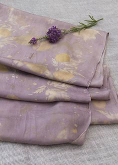Botanical prints on silk scarf - gold and heather Botanical Prints, Felt, Colours, Create, Image, Design, Maori, Felting, Feltro