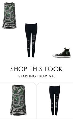 """Slytherin Pride #2"" by papaya-papaya ❤ liked on Polyvore featuring Barbara Bui and WithChic"