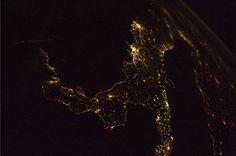 L'Italia vista dallo spazio: le foto di Nespoli