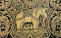 traditional thai art elephant - Google Search