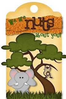 Nuts about you tag- printable