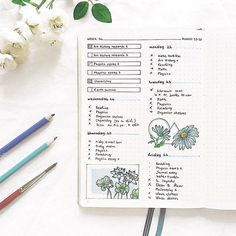 #Bullet Journal #Journal Inspo #Planning Inspiration #Planner #Setup #Layout #Doodles