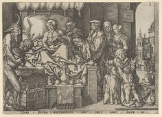 Heinrich Aldegrever | The Rich Man on His Deathbed, from The Parable of the Rich Man and Lazarus | The Met