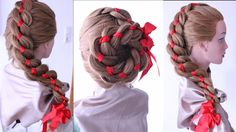 Beautiful and easy hair style.
