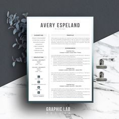 References Sheet Template New Resume Template Instant Download  Curriculum Vitae  Resume And .